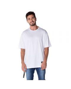 Camiseta com Zíper Lateral Thing Branco