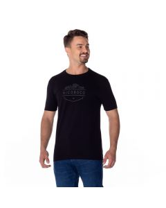 Camiseta Cotton Estampada Nicoboco Preto