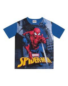 Camiseta de 1 a 3 Anos Homem Aranha Marvel Azul Escuro