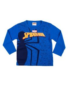 Camiseta de 1 a 3 Anos do Spider Man Fakini Azul