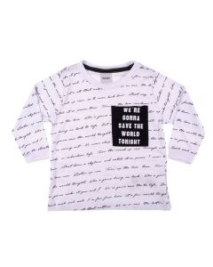 Camiseta de 1 a 3 Anos Escrita Rovitex kids Branco