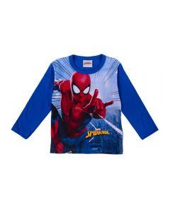 Camiseta de 1 a 3 Anos Homem Aranha Fakini Azul Escuro
