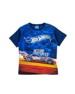 Camiseta de 1 a 3 Anos Hot Wheels Fakini Marinho Claro