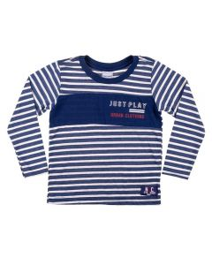 Camiseta de 1 a 3 Anos Listrada Yoyo kids Marinho