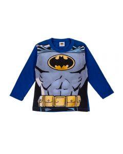 Camiseta de 1 a 3 Anos Malha Batman Fakini Azul Escuro
