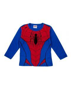 Camiseta de 1 a 3 Anos Malha Homem Aranha Fakini Azul Escuro