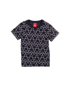 Camiseta de 1 a 3 Anos Mickey Disney Preto