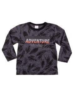 Camiseta de 1 a 3 Anos Moline Flame Alakazoo Chumbo