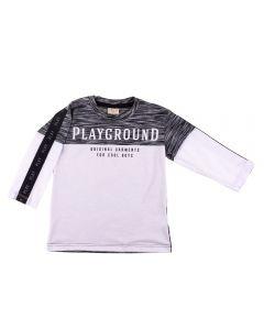 Camiseta de 1 a 3 Anos Mosaico Fakini Branco