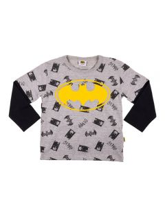 Camiseta Infantil Sobreposta Batman Fakini