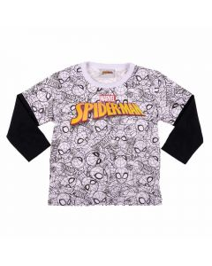 Camiseta Infantil Sobreposta Spider Man Fakini
