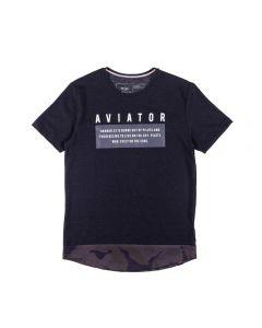 Camiseta de 12 a 16 Anos Aviator Hangar Preto
