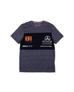 Camiseta de 12 a 16 Anos Mouline Flame Hangar Preto