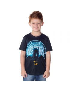 Camiseta de 4 a 10 Anos Batman Degradê DC Comics Asfalto