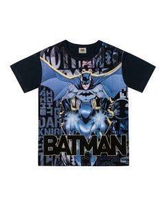 Camiseta de 4 a 10 Anos Batman Letras Dc Comics Preto