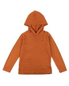 Camiseta de 4 a 10 Anos com Capuz Hangar 33 Caramelo