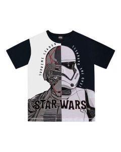 Camiseta de 4 a 10 Anos Darth Vader Disney Branco/Preto