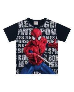 Camiseta de 4 a 10 Anos do Homem Aranha Marvel Preto