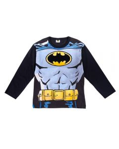 Camiseta de 4 a 10 Anos Estampa Batman Fakini Preto
