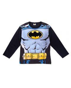 Camiseta de 4 a 10 Anos Estampada Batman DC Comics Preto