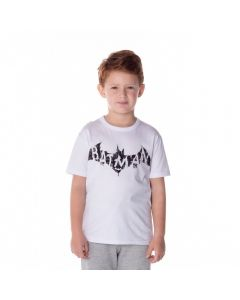 Camiseta de 4 a 10 Anos Malha Batman DC Comics Branco