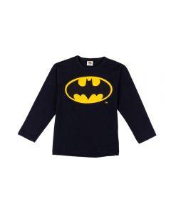 Camiseta de 4 a 10 Anos Malha Batman Fakini Preto