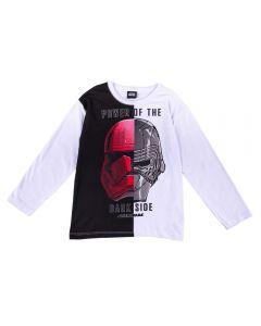 Camiseta de 4 a 10 Anos Malha Star Wars Fakini Branco