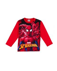 Camiseta de 4 a 10 Anos Spider Man Fakini Vermelho