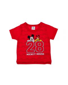 Camiseta de Bebê Mickey e Pluto Disney Maçã Do Amor