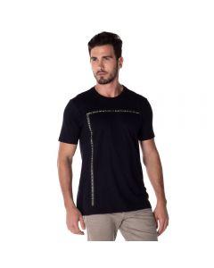 Camiseta em Malha Estampada Marc Alain