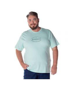 Camiseta Estampada Plus Size Nicoboco Verde Claro