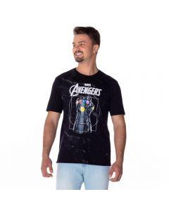 Camiseta Estonada Os Vingadores Marvel Preto