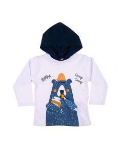 Camiseta Infantil Baby Urso Rovitex Kids Branco