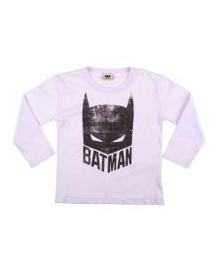 Camiseta Infantil Batman Manga Longa Fakini Branco