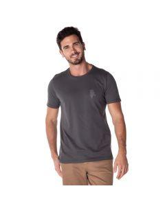 Camiseta Malha com Estampa Thing Chumbo
