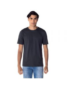 Camiseta Masculina Adulto Decote Careca Básica Risk Chumbo