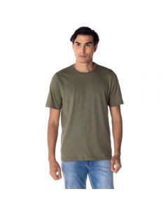 Camiseta Masculina Adulto Decote Careca Básica Risk Militar