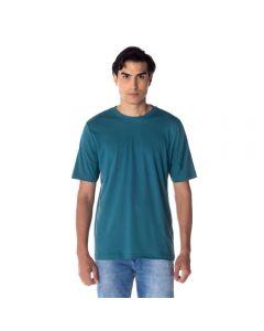 Camiseta Masculina Adulto Decote Careca Básica Risk Verde Hidro