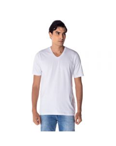 Camiseta Masculina Adulto Gola V Risk Branco