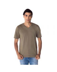 Camiseta Masculina Adulto Gola V Risk Militar