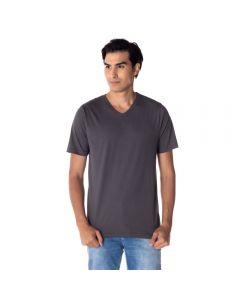 Camiseta Masculina Adulto Gola V Risk Chumbo