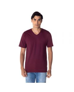 Camiseta Masculina Adulto Gola V Risk Wine