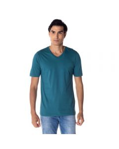 Camiseta Masculina Adulto Gola V Risk Verde Hidro