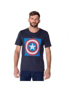 Camiseta Masculina Capitão América Marvel Chumbo
