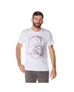 Camiseta Masculina Darth Vader Star Wars Disney Branco