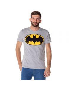 Camiseta Masculina Logo Batman DC Comics Mescla
