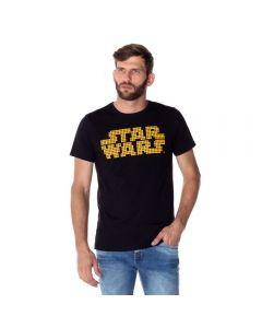 Camiseta Masculina Malha Stars Wars Disney Preto