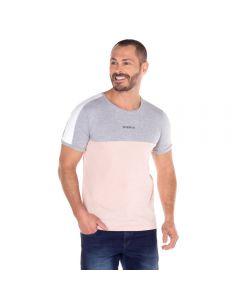 Camiseta Recortes Thing Mescla+Rosa Po
