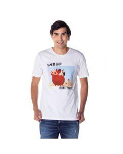 Camiseta Timão e Pumba Disney Branco