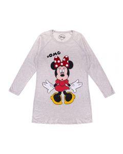 Camisola Manga Longa Raglan Minnie Disney Mescla